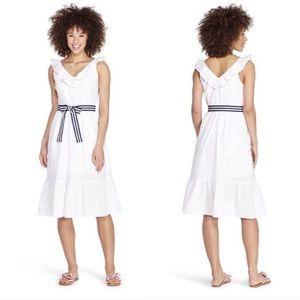 Vineyard Vines for Target Ruffle White Dress M